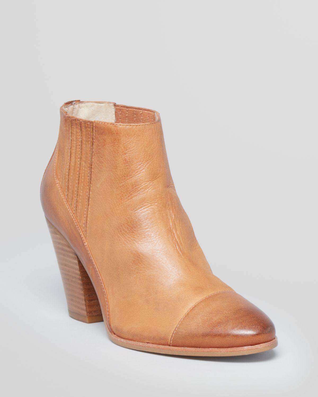 16c820a0c84f Joan   David Booties Hudsen High Heel in Natural - Lyst
