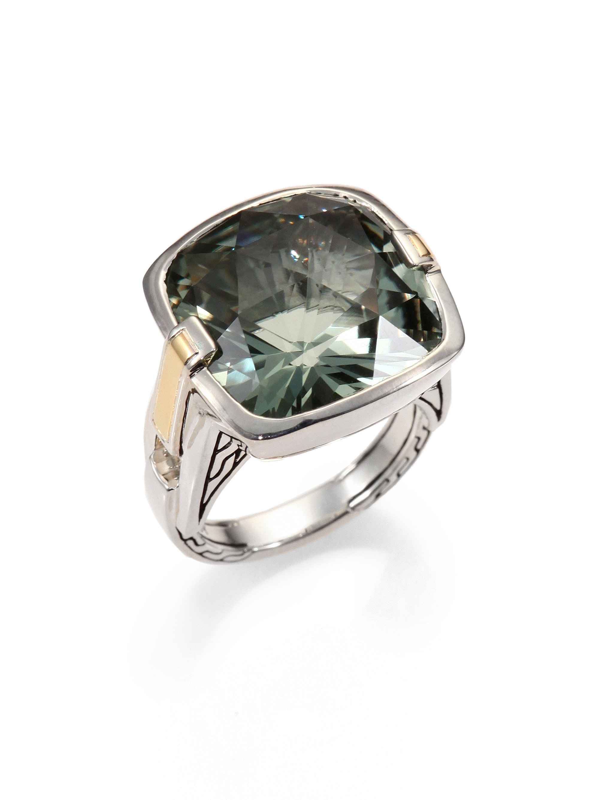 John Hardy Green Amethyst Sterling Silver Ring In Silver