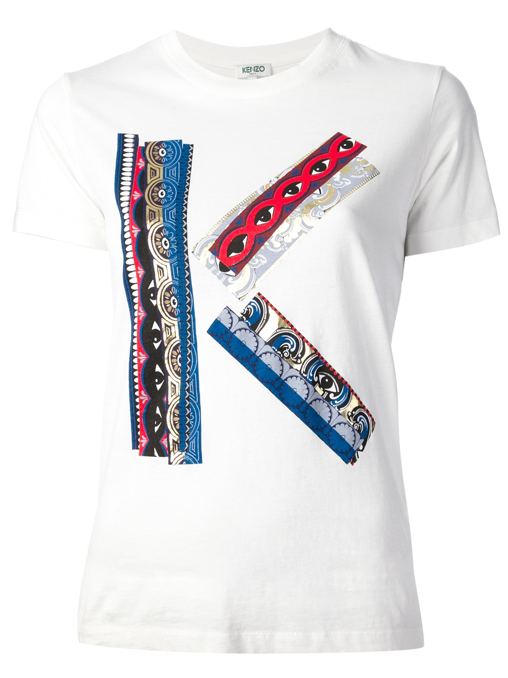 kenzo kenzo ribbon logo t shirt in white lyst. Black Bedroom Furniture Sets. Home Design Ideas