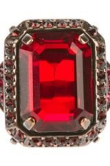 Lanvin Lanvin Faceted Gem Ring - Lyst