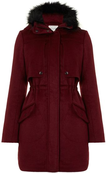 Linea Weekend Ladies Hooded Wool Parka Coat - Lyst