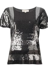 Michael by Michael Kors  Sequin Top - Lyst