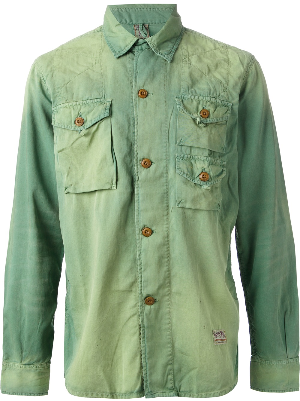 Prps Prps Goods and Co Denim Shirt in Green for Men | Lyst