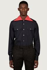 Raf Simons Mens Uniform Shirt - Lyst