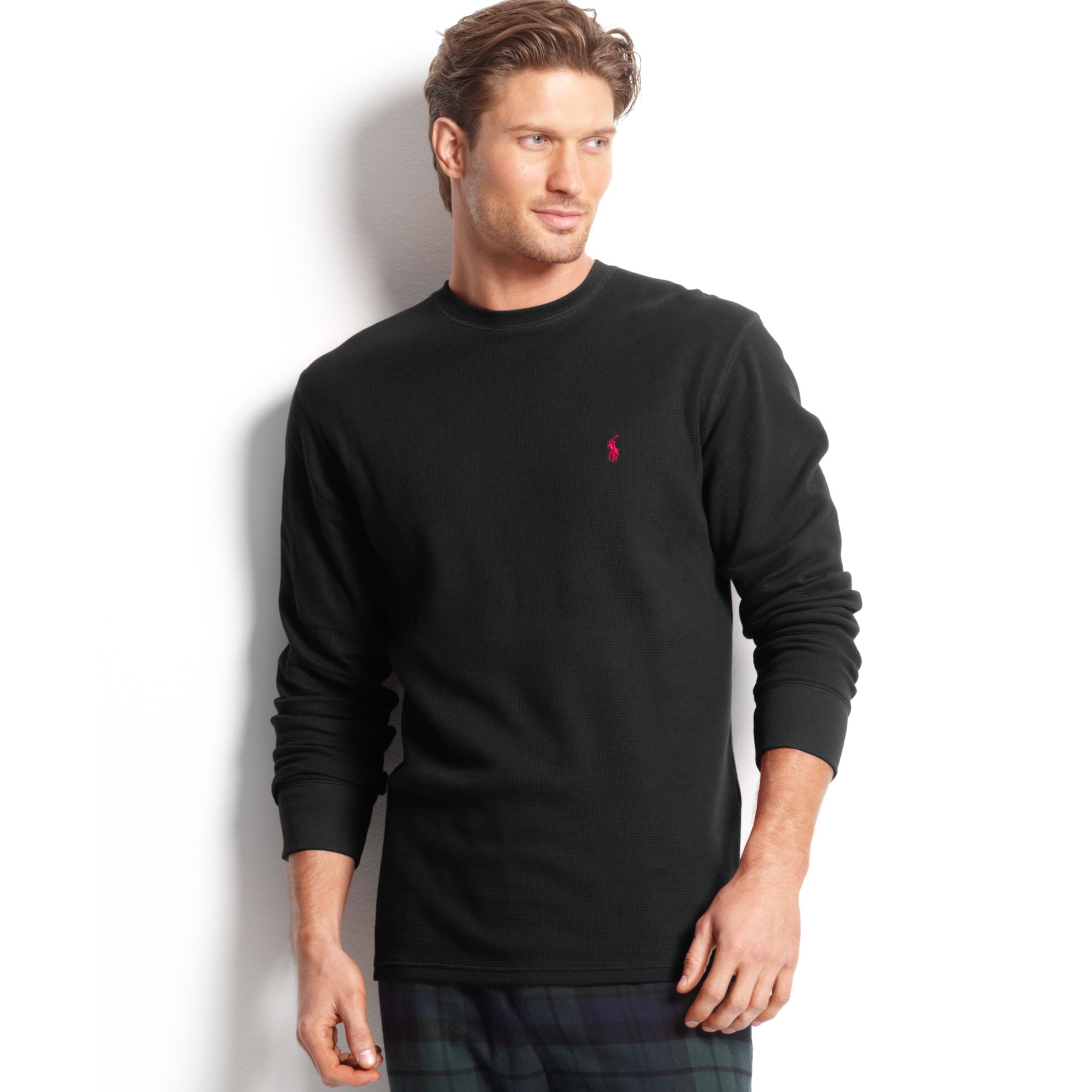 Polo ralph lauren big and tall long sleeve crew neck for Men s tall long sleeve shirts