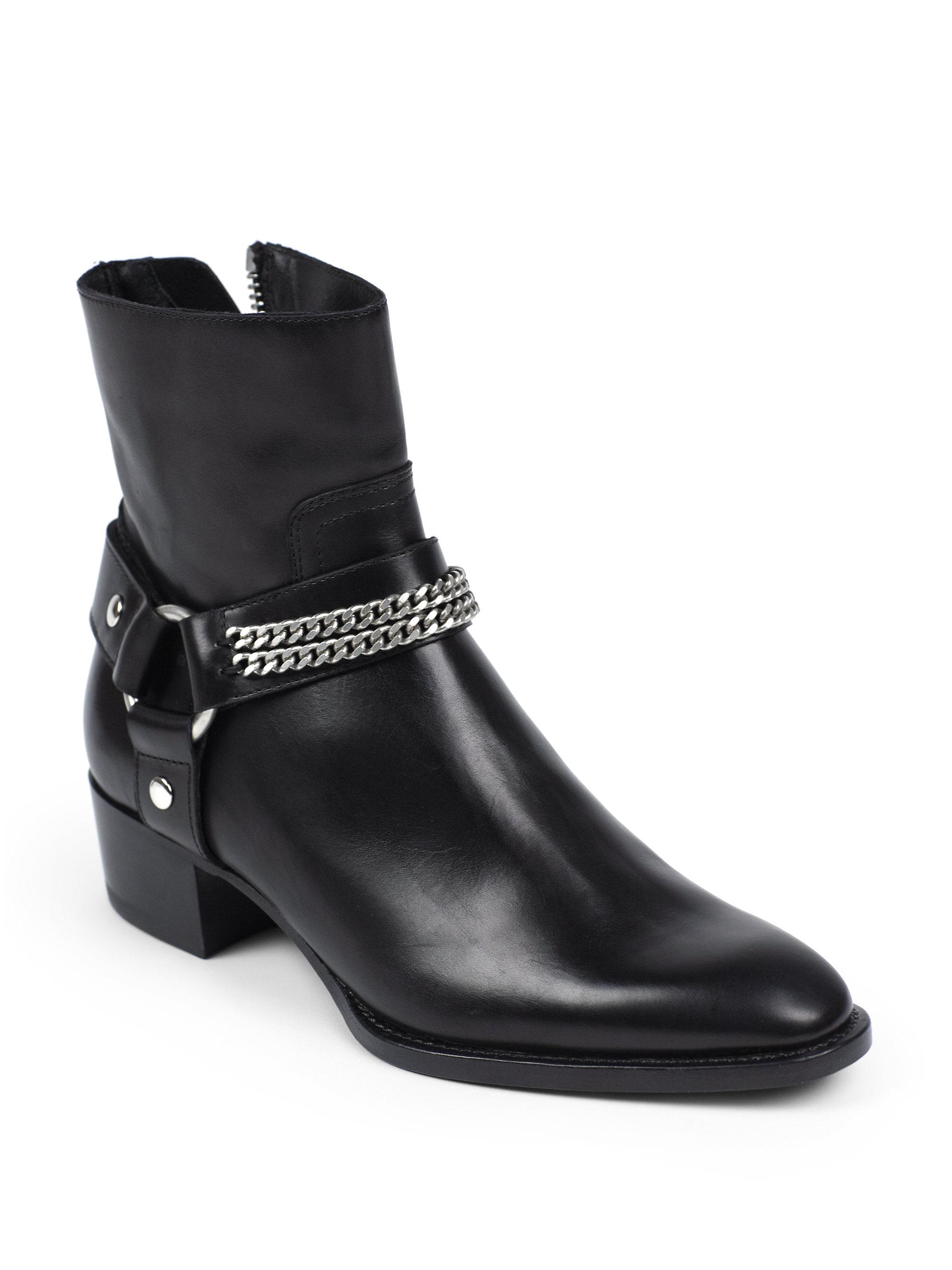 Lyst Saint Laurent Rock Chelsea Leather Chain Harness