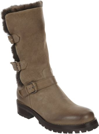 Sartore Furlined Moto Boot - Lyst