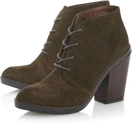 steve madden jayson heel desert boots in green lyst
