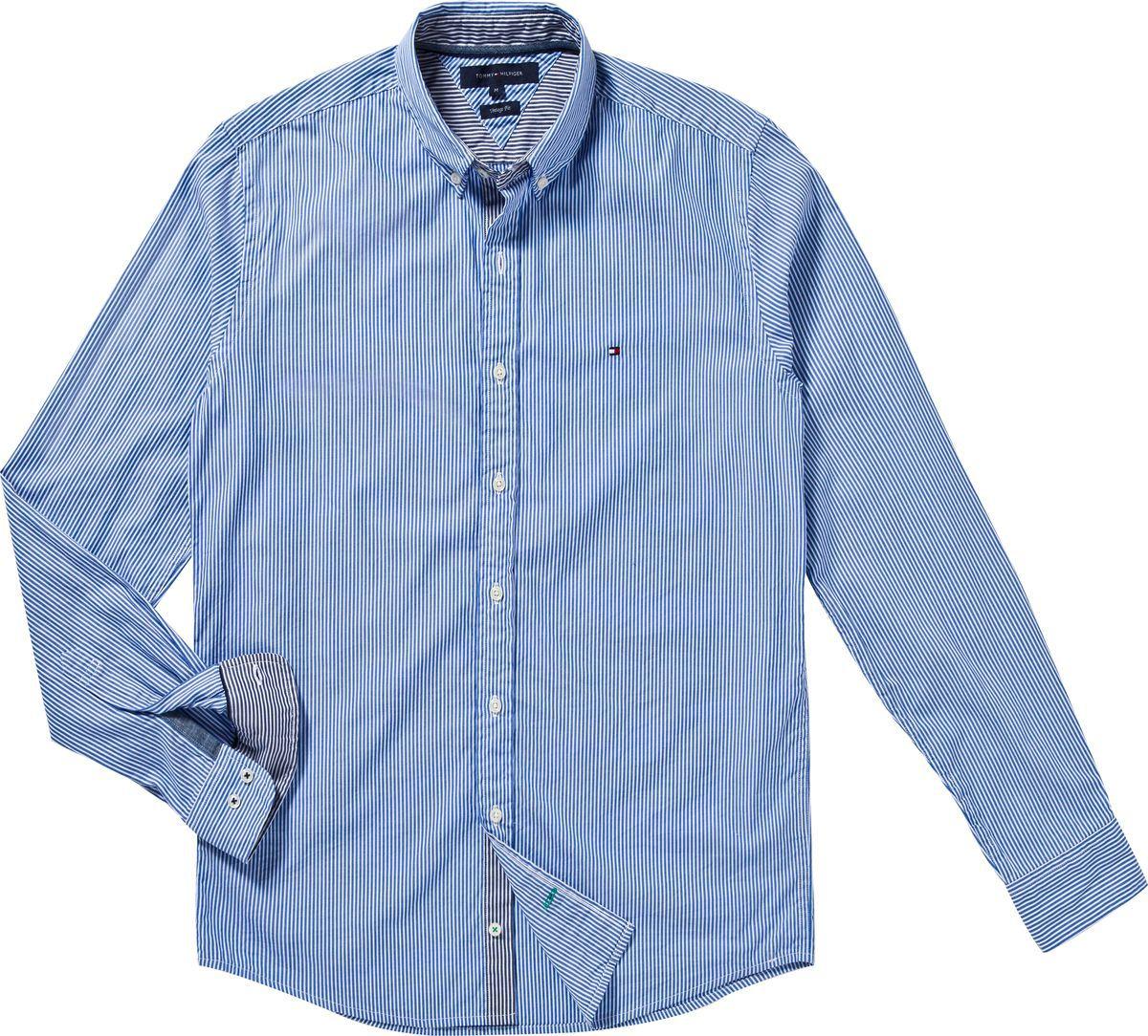 Tommy hilfiger lexington stripe shirt in blue for men lyst for Tommy hilfiger fitzgerald striped shirt