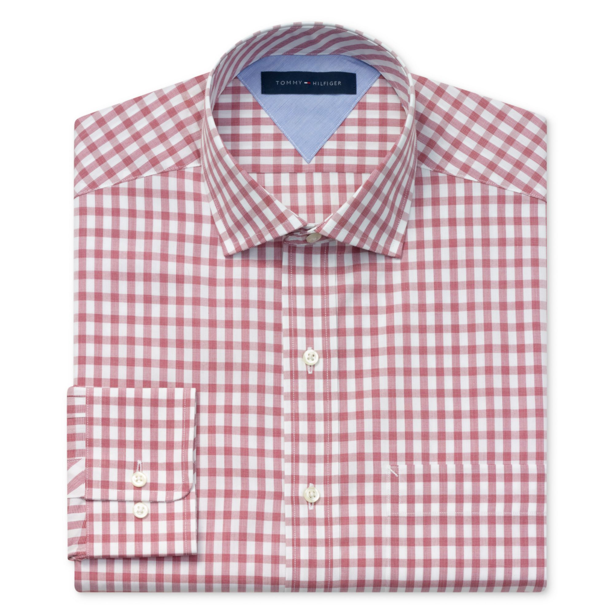 Tommy Hilfiger Exploded Gingham Long Sleeve Shirt In Red