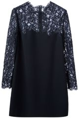 Valentino Valentino Lace Panel Dress - Lyst