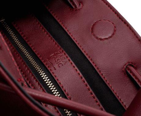 Zara Wide Handle Bucket Bag In Purple Burgundy Lyst