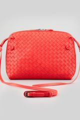 Bottega Veneta Veneta Small Crossbody Bag Scarlet - Lyst