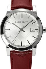 Burberry Stainless Steel and Leather Watch - Lyst