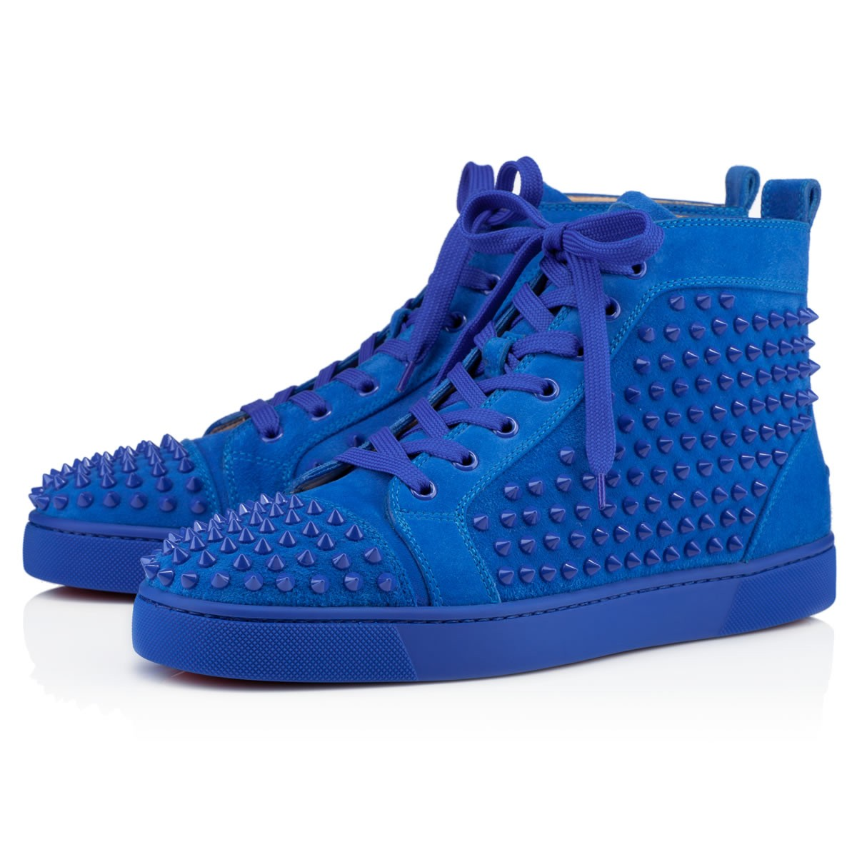 Christian louboutin Louis Spikes Mens Flat in Blue for Men ...
