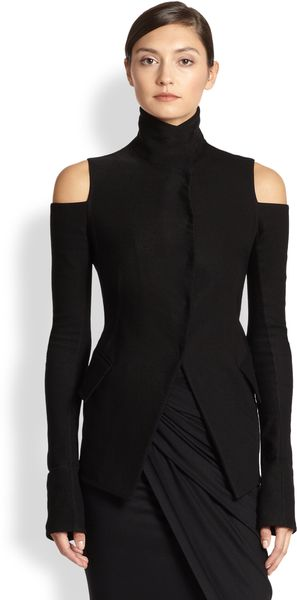 Donna Karan New York Coldshoulder Jacket - Lyst