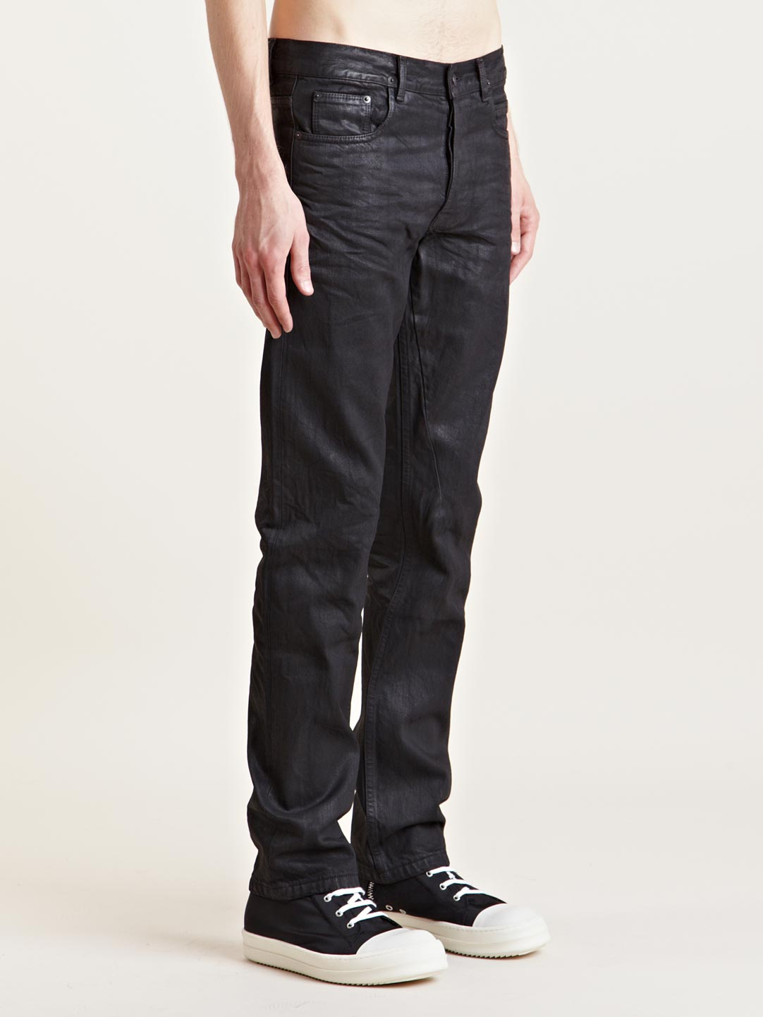 Mens Super Skinny Black Jeans
