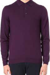Hugo Boss Banet Knitted Polo Shirt - Lyst