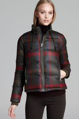 Hunter Down Coat Plaid Check Down - Lyst