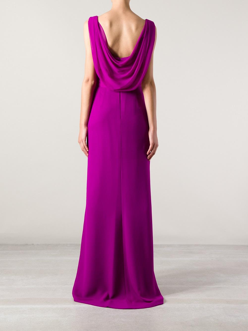Marchesa Marchesa Embellished Evening Dress In Pink