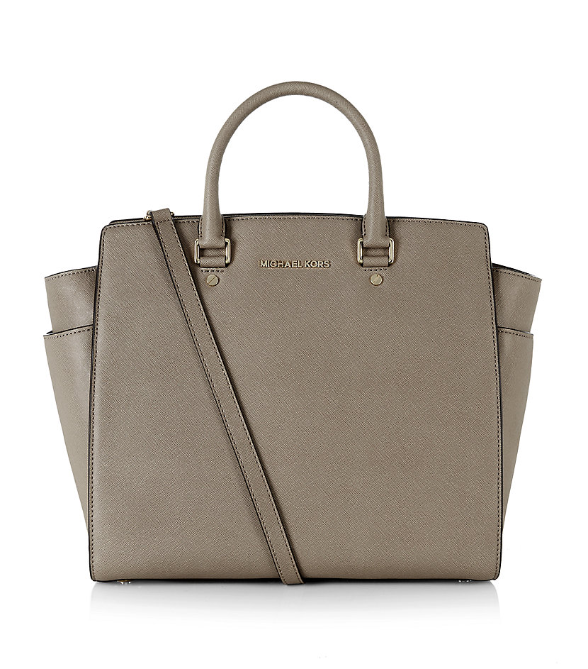 michael michael kors selma large tote in gray lyst. Black Bedroom Furniture Sets. Home Design Ideas