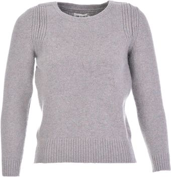 MiH Jeans The Dove Jacquard Sweater Space Wool Grey - Lyst