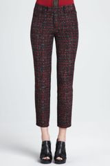 Nanette Lepore Paree Cropped Tweed Pants - Lyst