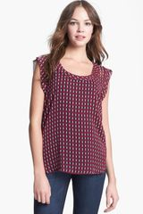 Pleione Scoop Neck Blouse - Lyst