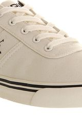 Ralph Lauren Hanford Cotton Canvas Trainers - Lyst