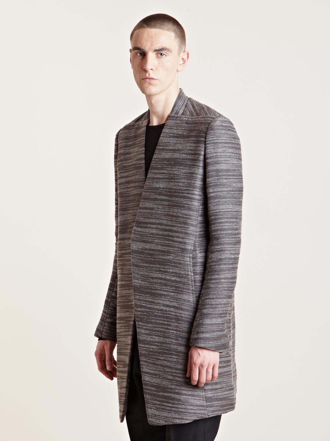 Lyst Rick Owens Mens Alpaca Wrap Coat In Gray For Men