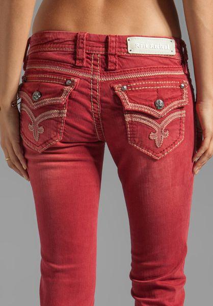 Cheap Rock Revival Womens Jeans