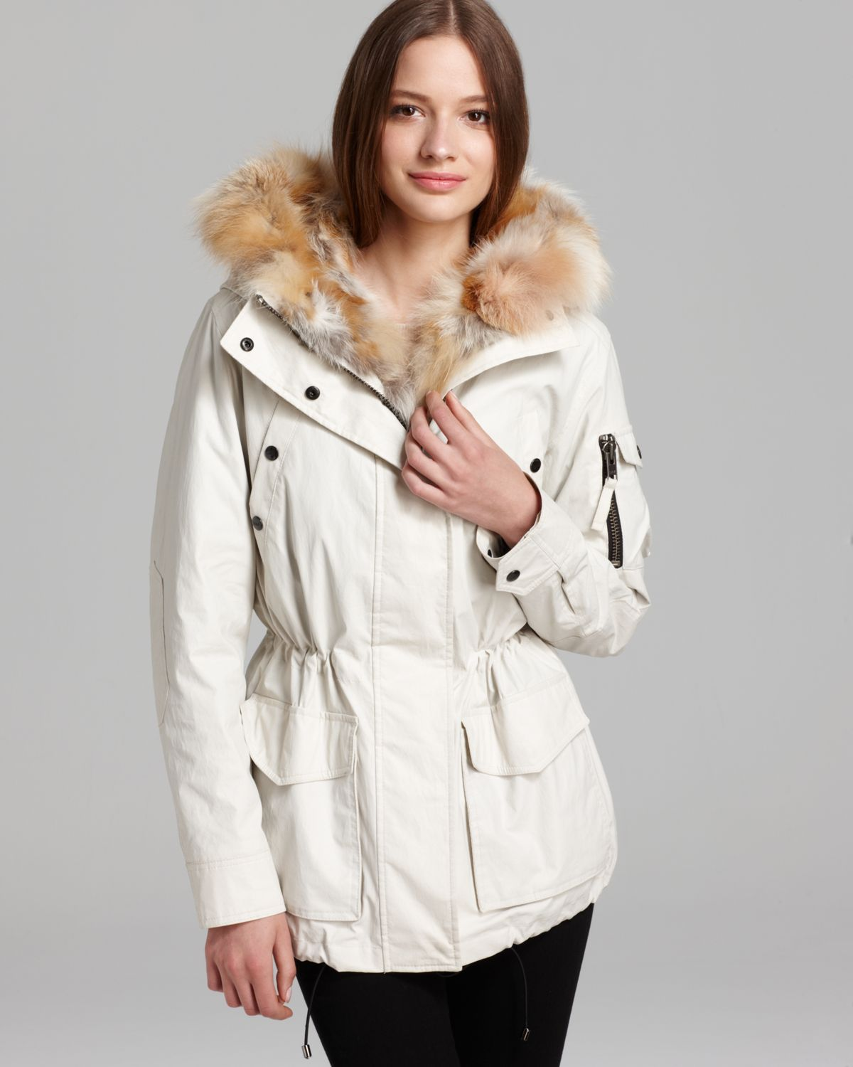 Sam. Coat Luxe Adirondack Parka in White | Lyst