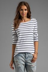 Sonia By Sonia Rykiel Tee Stripe Shirt in White - Lyst