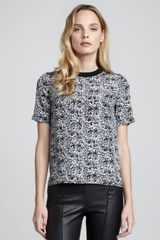 Theory Klima Printed Silk Top - Lyst
