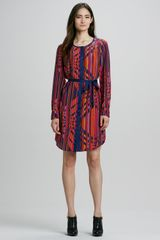 Trina Turk Kinder Printed Belted Shirtdress - Lyst