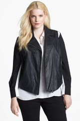 Two By Vince Camuto Faux Leather Moto Vest - Lyst