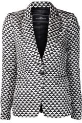 By Malene Birger By Malene Birger Bosede Triangle Print Blazer - Lyst