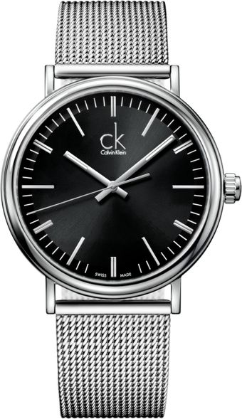 Calvin Klein Mens Swiss Surround Stainless Steel Mesh Bracelet 43mm - Lyst