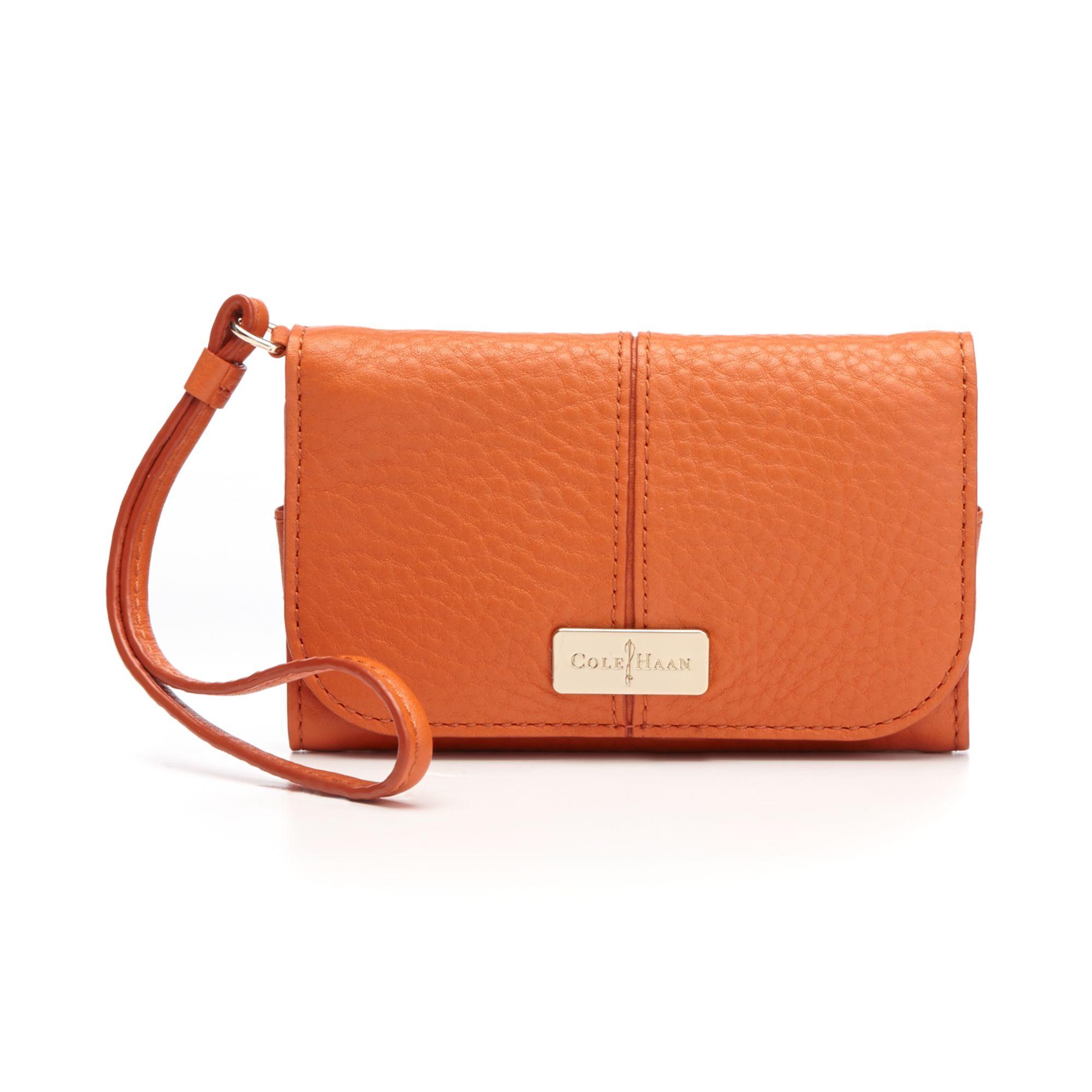 c29e7787438 Lyst - Cole Haan Village Tech Snap Wallet in Orange