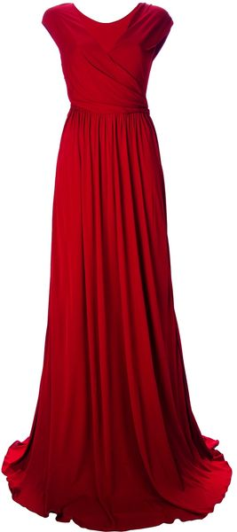 Issa  Gathered Crepe Gown - Lyst