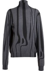 Jil Sander Jil Sander Striped Wool Turtleneck - Lyst
