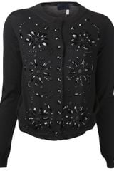 Lanvin Embroidered Cardigan - Lyst