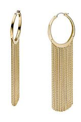 Michael by Michael Kors Gold Tone Fringe Hoop Earrings - Lyst