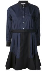Sacai Sacai Shirt Dress - Lyst