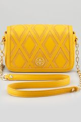 Tory Burch Robinson Patchwork Mini Chainstrap Bag Goldenrod - Lyst