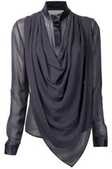 Unconditional Unconditional Draped Silk Blouse - Lyst