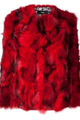 Versus  Versus Fox Fur Jacket - Lyst