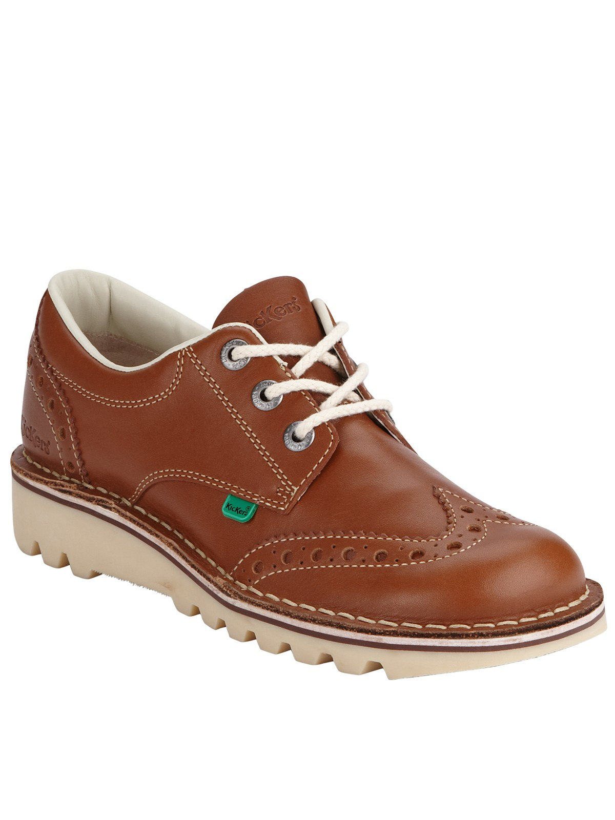 kickers kickers kick lo brogue shoe in brown for