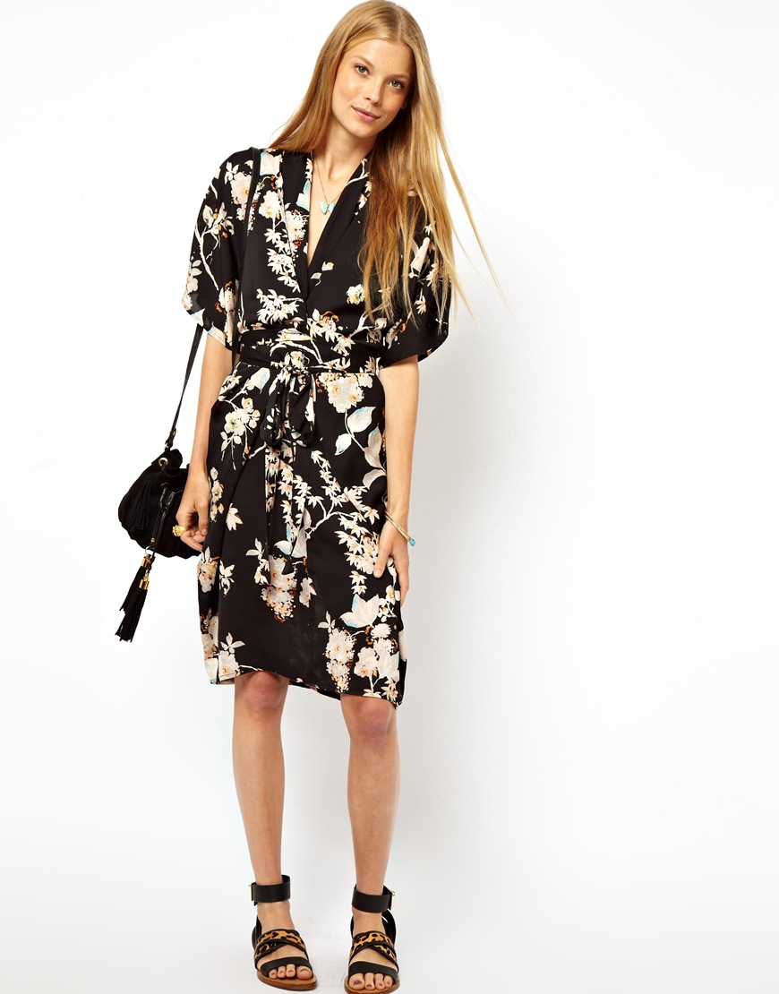 b9a3191505 Asos Floral Obi Wrap Dress - Data Dynamic AG