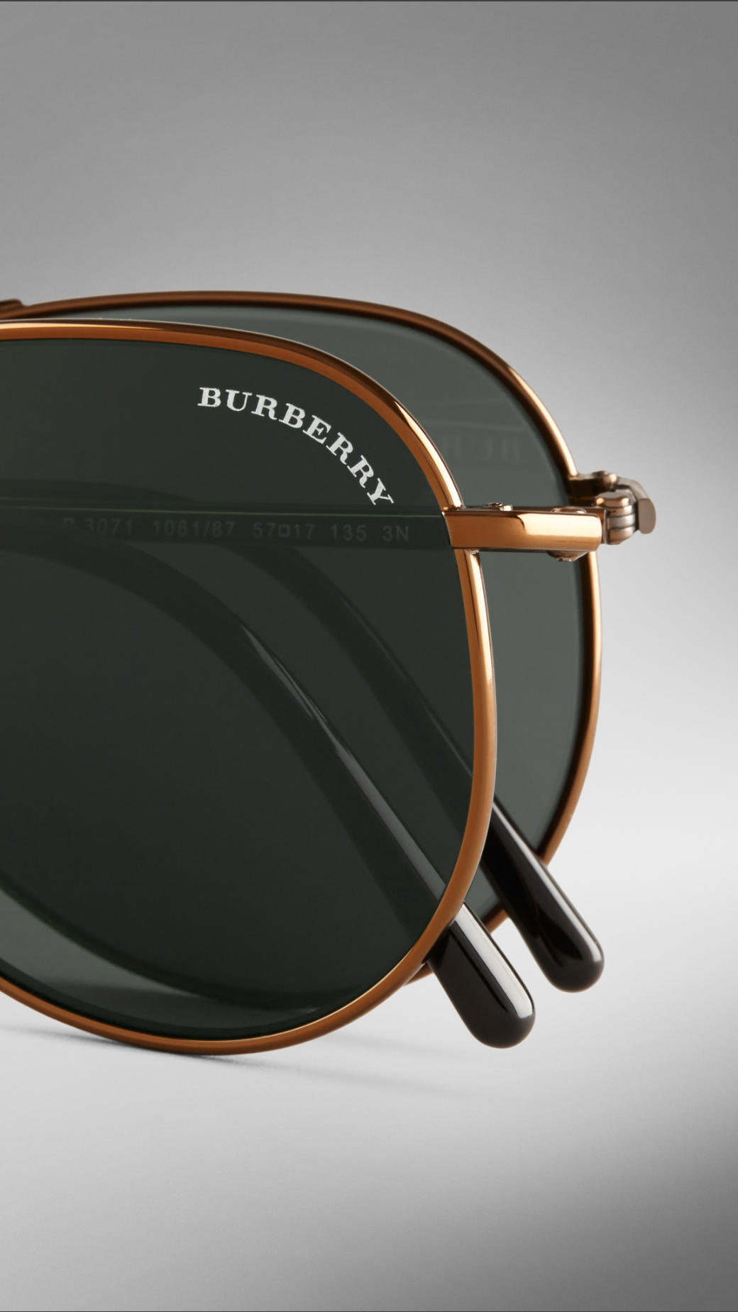 a1baf0328ca2 Lyst - Burberry Brit Brit Rhythm Foldable Aviator Sunglasses in ...
